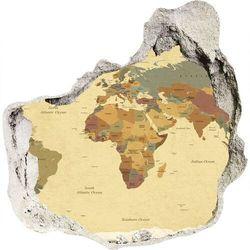 Samoprzylepna dziura na ścianę Mapa polityczna