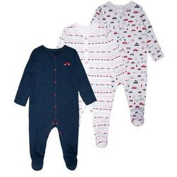 mothercare BOYS INTO THE WOODS SLEEPSUIT BABY 3 PACK Piżama grey