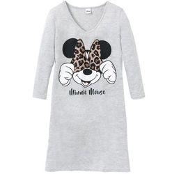 "Koszula nocna ""Myszka Minnie"" bonprix jasnoszary melanż z nadrukiem"