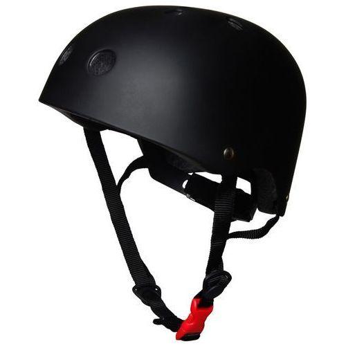Kaski ochronne dla dzieci, kiddimoto® Kask ochronny Design Sport, Matt czarny - rozm. M, 53-58cm