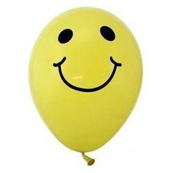 Balony pastelowe żółte Uśmiechy - 30 cm - 5 szt.