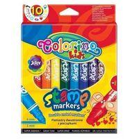 Mazaki i flamastry, Flamastry Kids dwustronne ze stempelkami 10 kolorów