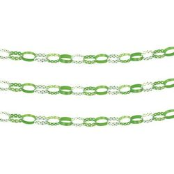 Łańcuch choinkowy zielony w kropki - 152 cm - 1 szt.