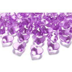 Kryształowe serca - ciemno różowe - 2,1 cm - 30 szt.