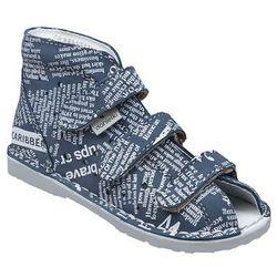 Kapcie profilaktyczne buty DANIELKI T105L T115L Jeans Gazeta - Jeans ||Szary ||Multikolor