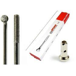 Szprychy CNSPOKE STD14 2.0-2.0-2.0 stal nierdzewna 198mm srebrne + nyple 144szt.