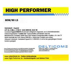 High Performer 80W-90 GL5 Getriebeöl Hypoid 20 Litr Kanister