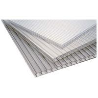 Pozostałe artykuły dachowe, Płyta poliwęglan jednokomorowy Palram bezbarwna 0,98 x 2 m 4 mm 1,96 m2