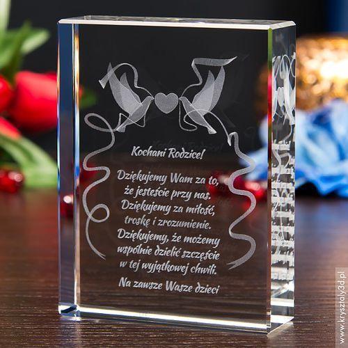 Podziękowania dla rodziców i gości, Podziękowanie dla rodziców »Gołąbki 3D« z Twoją dedykacją • GRAWER 3D