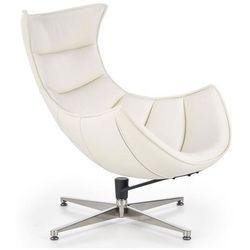 Skórzany fotel wypoczynkowy Lavos - biały
