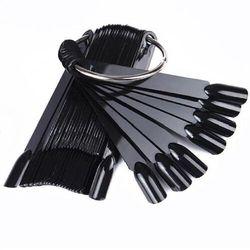 Wzornik wachlarz prezenter 48 kolorów tipsów czarny