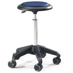Mobilny stołek roboczy DIEGO, 540-730 mm, niebieska tkanina