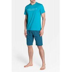 Bawełniana piżama męska Henderson 38883 Dojo zielona (5901656900391)