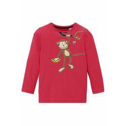 Shirt chłopięcy z długim rękawem, bawełna organiczna bonprix ciemnoczerwony