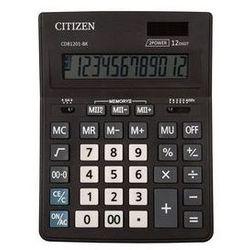 Kalkulator biurowy CITIZEN CDB1201-BK Business Line, 12-cyfrowy, 205x155mm, czarny. Darmowy odbiór w niemal 100 księgarniach!