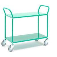 Wózki widłowe i paletowe, Wózek TRANSIT z półkami, 2 półki, 900x440 mm, zielony