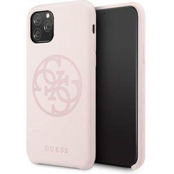 Guess GUHCN58LS4GLP iPhone 11 Pro light pink/jasnoróżowy hard case Silicone 4G Tone On Tone - Różowy