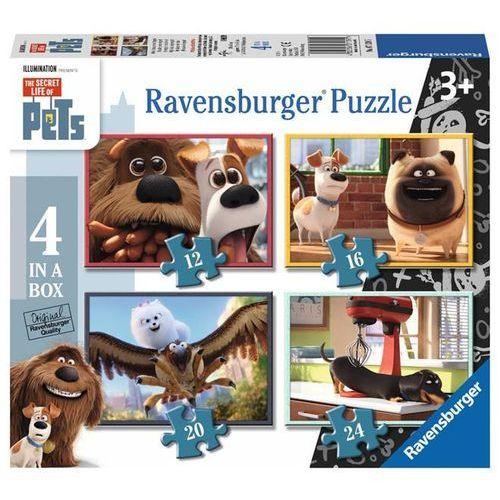 Puzzle, Puzzle 4w1 - Sekretne Życie Zwierzaków 071395 - Ravensburger