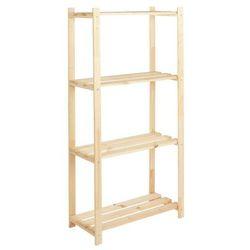 Regał drewniany 30 x 65 x 130 cm 4 półki 20 kg
