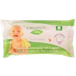 Chusteczki nawilżane z bio-bawełny dla niemowląt 60 szt.