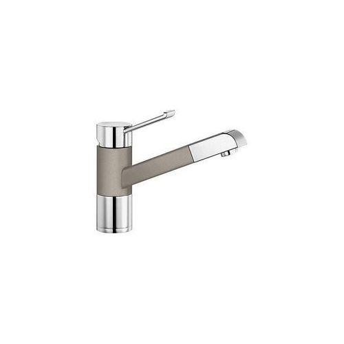 Baterie do kuchni, Bateria kuchenna z wyciąganą wylewką silgranit tartufo Blanco Zenos-S 517 828