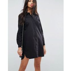ASOS DESIGN cotton mini shirt dress - Black