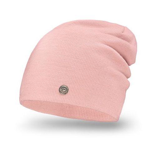 Nakrycia głowy i czapki, Komplet PaMaMi, czapka i komin - Pudrowy róż - Pudrowy róż