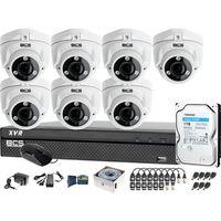 Zestawy monitoringowe, Zestaw do monitoringu BCS-XVR0801 7x Kamera BCS-DMQE3200IR3-B Dysk 1TB Akcesoria