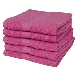 vidaXL Ręczniki kąpielowe 5 szt 100% Bawełna 500 gsm 70x140 cm Róż