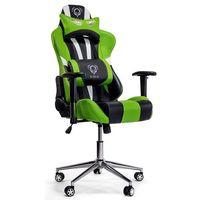 Fotele dla graczy, Fotel DIABLO CHAIRS X-Eye Czarno-biało-zielony + Zamów z DOSTAWĄ JUTRO!
