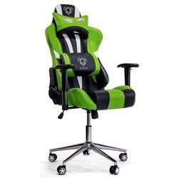 Fotel DIABLO CHAIRS X-Eye Czarno-biało-zielony + Zamów z DOSTAWĄ JUTRO!