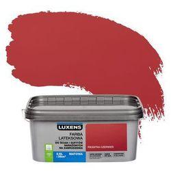 Farba wewnętrzna NARAŻONYCH NA ZABRUDZENIA 2.5 l Pikantna czerwień LUXENS
