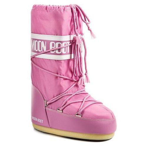 Śniegowce damskie, Śniegowce MOON BOOT - Nylon 14004400063 Rosa D