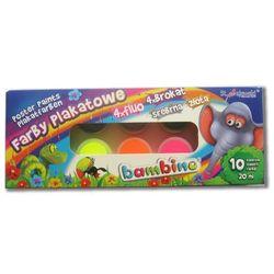 Farby plakatowe 10 kolorów Bambino