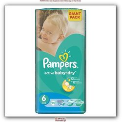 Pieluchy PAMPERS Act. Baby-Dry 6 XL 3-6kg, 56szt - 4015400736424