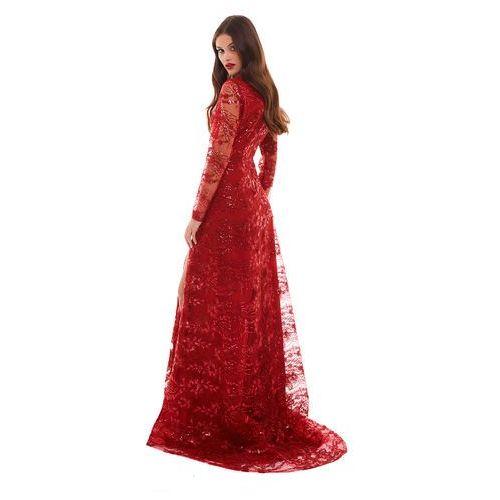 Suknie i sukienki, Sukienka Alfa w kolorze czerwonym