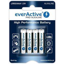 Baterie paluszki AAA LR03 everActive Pro Alkaline 4 sztuki alkaliczne (blister)