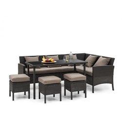 Blumfeldt Titania Dining Lounge Set Komplet mebli ogrodowych, czarny/brązowy