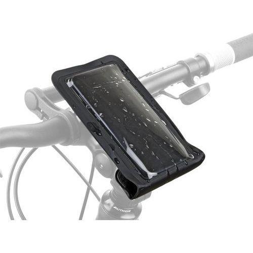 Sakwy, torby i plecaki rowerowe, Torebka na wspornik kierownicy AUTHOR A-H950 165x95mm (telefon) czarna