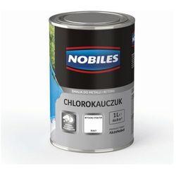 Emalia chlorokauczukowa Nobiles do metalu i betonu biała 1 l