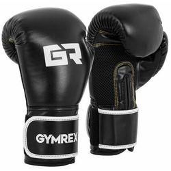 Rękawice bokserskie - 14 oz - czarne marki Gymrex