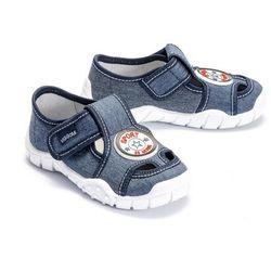 VIGGAMI ADAŚ SPORT jeans, kapcie dziecięce z wkładką, rozmiary: 31-36 - Granatowy