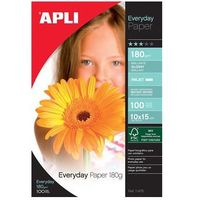 Papiery fotograficzne, Papier fotograficzny APLI Everyday Photo Paper, 10x15cm, 180gsm, błyszczący, 100ark.