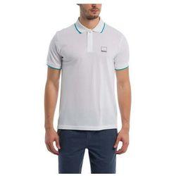 koszulka BENCH - Polo With Y/D Stripes Bright White (WH11185) rozmiar: L