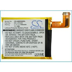 Amazon Kindle 6 / MC-265360 750mAh 2.78Wh Li-Polymer 3.7V (Cameron Sino)
