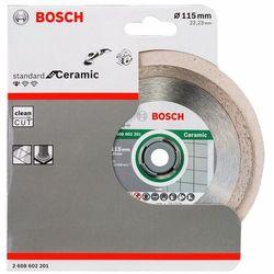 Diamentowa tarcza tnąca Professional for Ceramic, 115 x 22,23 x 1,6 x 7 mm, zestaw 1 szt. Bosch 2608602201, Średnica 115 mm, 1 szt.