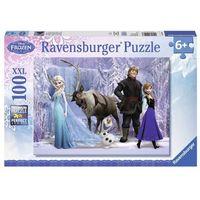 Puzzle, Ravensburger Puzzle 100el Kraina Lodu Frozen 105168 - 4005556105168- natychmiastowa wysyłka, ponad 4000 punktów odbioru!
