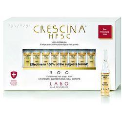 Crescina Re Growth 500 faza pośrednia wypadania włosów u mężczyzn 10 ampułek