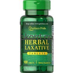 Herbal Laxative Puritan's Pride 100 Tabletek Zaparcia