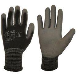Rękawice ochronne r. M / 7 poliestrowe z powłoką poliuretanową